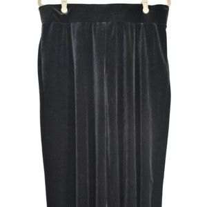 NWT Chico's Velvet Culottes Black Fantasia Pant